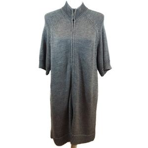 Coldwater Creek Gray Short Sleeve Sweater Dress